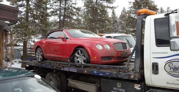 bently-on-flatbed-tow-truck